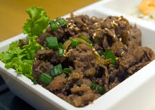 Korean Beef Bulgogi Royalty Free Stock Image