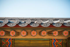 Korean style roof Royalty Free Stock Photos