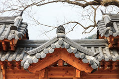 Korean style roof Royalty Free Stock Photography