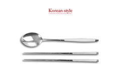 Korean style, spoon and chopsticks Stock Image