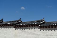 Korean Style Wall And Roof Stock Photo