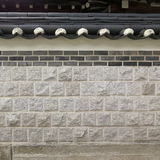 Korean style wall with roof decorative Royalty Free Stock Image