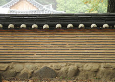 Korean style wall with roof decorative Royalty Free Stock Photography