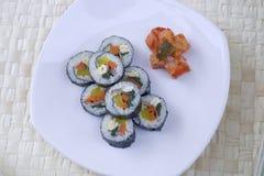 Korean sushi and kimchi. Stock Image