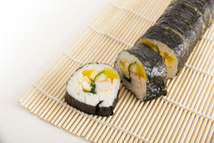 Korean Sushi. Preparing Korean Sushi on white background Stock Image