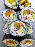 Korean sushi rolls royalty free stock photography