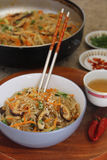 Korean Sweet potato  Noodles Royalty Free Stock Images