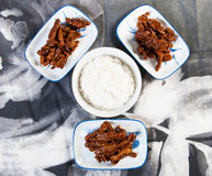 Korean sweet and spicy beef strips Royalty Free Stock Photography