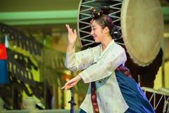 Korean Traditional Dance Royalty Free Stock Image