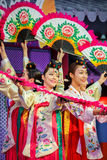 Korean Traditional Dance  Stock Photography