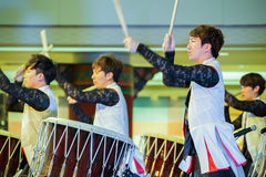 Korean Traditional Dance  Royalty Free Stock Photography