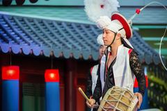Korean Traditional Dance Royalty Free Stock Images