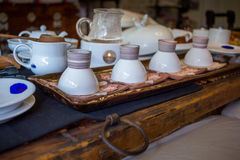 Korean tea ceremony table Stock Photography