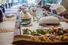 Korean tea ceremony table Royalty Free Stock Photo