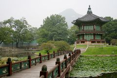 Korean temple. The photo of one of Korean traditional temples Royalty Free Stock Images