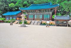 Korean temple architecture Royalty Free Stock Photos