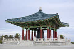 Korean temple with bell Stock Image