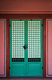 Korean Tradition Wooden Door Royalty Free Stock Image
