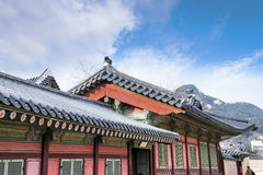 Korean traditional architecture - Korean Tradition Wooden Gate a Stock Photography