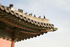 Korean traditional architecture, sky, asian roof Royalty Free Stock Image
