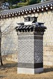 Korean traditional brick chimney Royalty Free Stock Photo