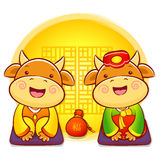 Korean traditional bulls Event activities. New Year Character De Stock Image