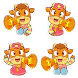 Korean traditional bulls Event activities. New Year Character De Royalty Free Stock Photos