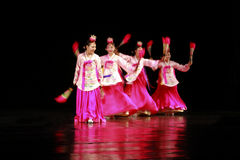 Korean Traditional Dance. A Group of women dancing Korean Traditional Dance Stock Images