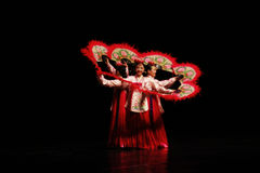 Korean Traditional Dance. A Group of Women Dancing Korean Traditional Dance Stock Photography
