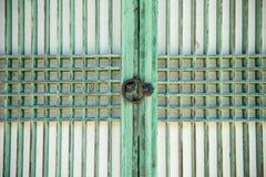 Korean traditional door stock photo