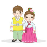 Korean traditional dress Stock Image