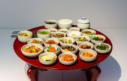 Korean traditional food. And sets on the table Stock Image