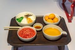 Korean traditional food on table Stock Photo