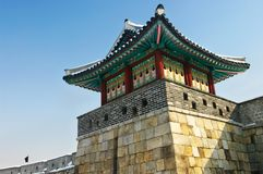 Korean Traditional Fortress Stock Photo