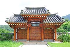 Korean traditional gate Stock Images