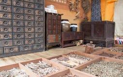 Herbal medicine shop. Korean traditional herbal medicine shop Royalty Free Stock Photography