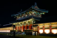 Korean traditional house Royalty Free Stock Photo