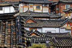 Korean traditional house building Stock Images