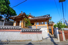 Korean traditional house, Bukchon Hanok Village on Jun 19, 2017