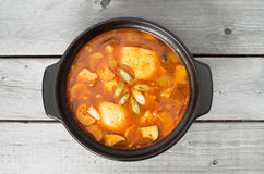 Korean traditional Kimchi soup Royalty Free Stock Image