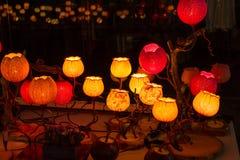 Korean traditional lamps royalty free stock photos
