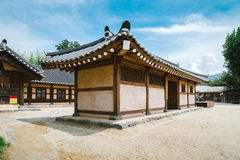 Korean traditional old house at summer day Royalty Free Stock Photos