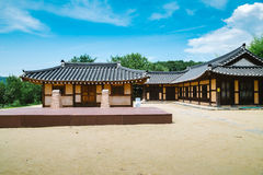 Korean traditional old house at summer day. In Asan Oeam Folk Village, Korea Stock Photography
