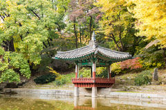 Korean traditional pavilion in the garden Stock Photos