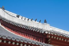 Korean traditional roof of palace Royalty Free Stock Photo