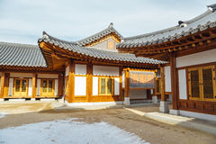 Korean traditional roofing tile house. In Korea Royalty Free Stock Photos