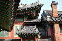 Korean traditional roofs Royalty Free Stock Image