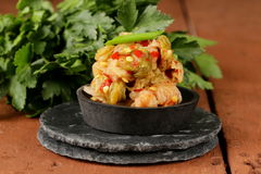 Korean traditional salad cabbage kimchi Stock Photography