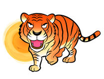 Korean traditional Tiger Mascot. New Year Character Design Serie Stock Photography