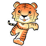 Korean traditional Tiger Mascot. New Year Character Design Serie Stock Photo
